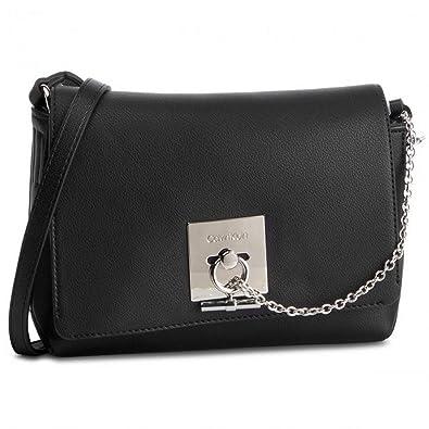 c6e3df10db2 Amazon.com | Calvin Klein Ck Lock Med Flap Crossbody Messenger Bag ...