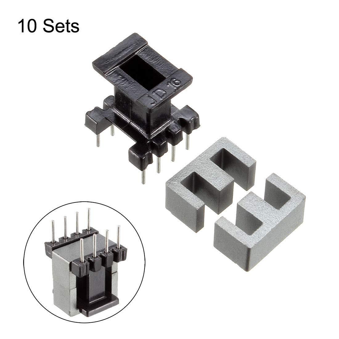 10 Sets EE10 4 with 4pin Transformer Bobbin PC40 Vertical ferrite core 20 ferrite Halves and 10 Coil