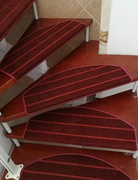 besbomig Alfombras de Escalera, Set de 5 Alfombras semicirculares para Escalera Alfombrillas Antideslizantes para peldaños 65 * 24cm: Amazon.es: Hogar