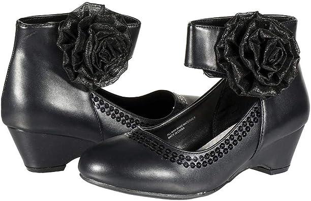 Big Girl Wedge Bow Flower Design Shoe