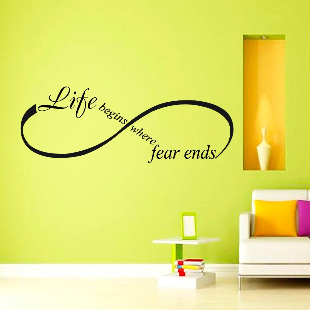 Wall Decals Quotes Life begins where fear ends Osho Quote Infinity ...