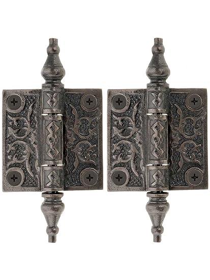 Pair Of Decorative Cast Iron Cabinet Hinges 2 X 2 Cabinet And Rh Amazon Com  Decorative Kitchen Cabinet Door Hinges Decorative Surface Mount Cabinet  Hinges