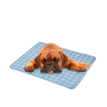 Mascotas enfriamiento Dormir Matte, perro Gatos Cachorros enfriamiento Cojín fría cama bambú Matte Hielo Dormir