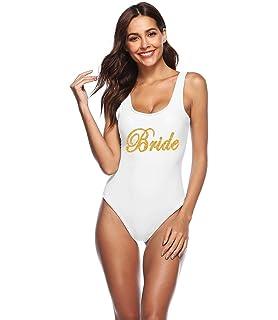 c568aa7393 PROGULOVER Women's Swimsuit Bride Tribe Bathing Suits Honeymoon Swimwear  Bride Wedding Party Bridesmaid Gift