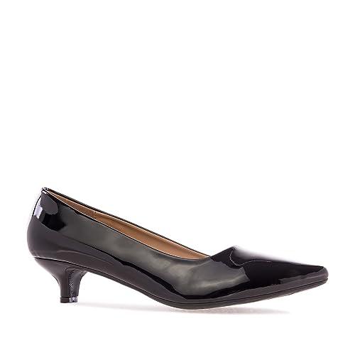 huge discount 906d9 12ed2 Andres Machado - AM5152 - Eleganter Damenschuh mit Kitten Heel.EU 32 bis  35/42 bis 45
