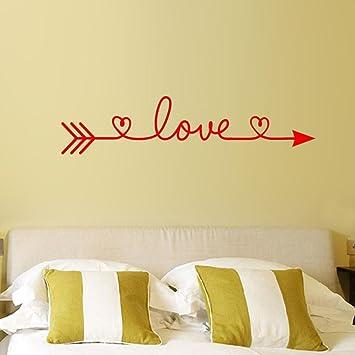 Fheaven Heart Wall Sticker,Home Decor Love Arrow Removable Art Vinyl Mural  Home Room Decor