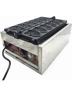 Máquina eléctrica para hacer helado en forma de pescado Máquina de hacer Taiyaki boca abierta Máquina eléctrica para hacer gofres pastel de pescado: Amazon.es: Hogar