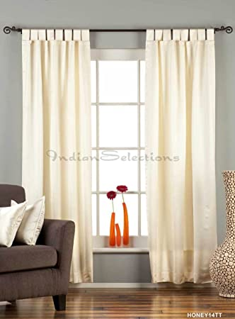 cream tab top 90 blackout cafe curtain drape panel 43w x 36l