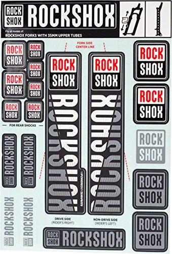 35mm Black Rockshox White Decal Kit