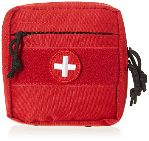 (VooDoo Tactical 15-0023016000 Tactical First Aid Pouch, Red)