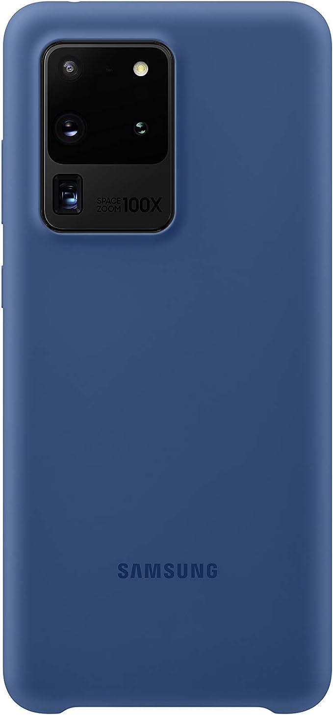 Samsung Silicone Smartphone Cover Ef Pg988 Für Galaxy S20 Ultra Handy Hülle Silikon Schutz Case Stoßfest Dünn Und Griffig Dunkelblau Elektronik