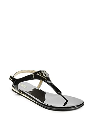 c9321c4e2974b G by GUESS Guess Factory Women s Carmela T-Strap Sandals  Amazon.co.uk   Shoes   Bags