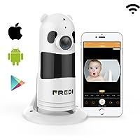 1080P HD Wlan IP Kamera Sicherheitskamera IP Cam Überwachungskamera FREDI Wlan Netzwerk Kamera Kabellos Panorama Panda Videoüberwachung mit IR Nachtsicht /Bewegungsmelder /Baby monitor für Haus/Baby Überwachung