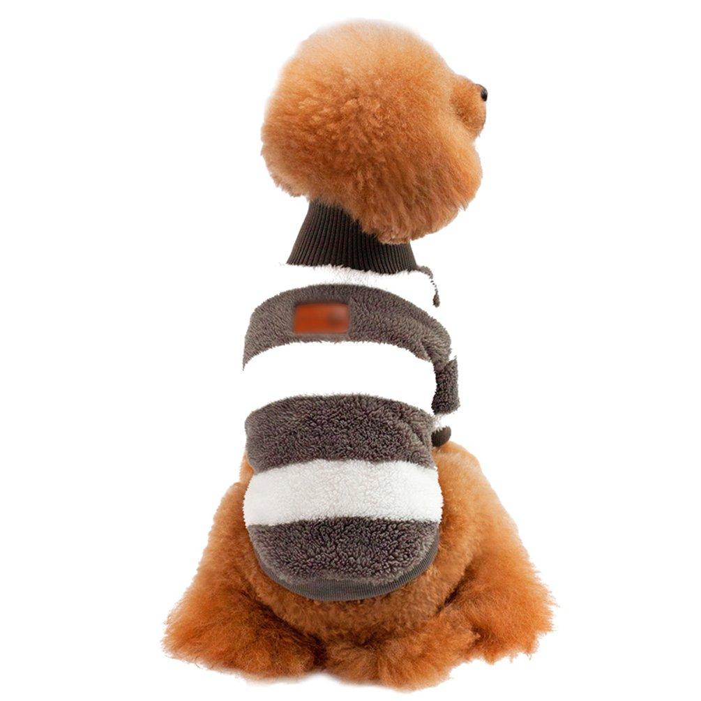 Jitong Caldo Pullover Cane Gatto Collo alto Cappotto Animale Domestico Costume (Grigio, 36*22*26 CM)