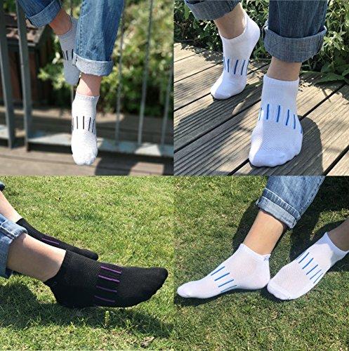 Hengnuo Hidden Low Cut Socks 6 Pairs Pack Fashion Sport Socks For Men And Women