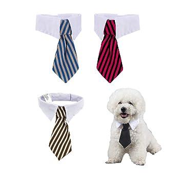 4 Piezas Corbatas y Pajarita Ajustables de Mascotas Perros ...
