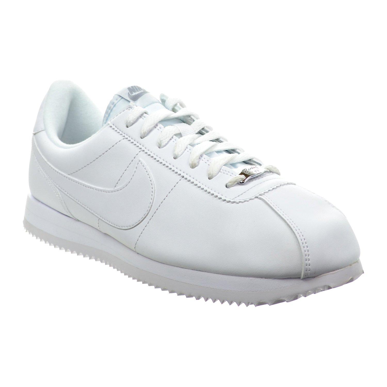 cd6637dc Amazon.com | Nike Cortez Basic Leather Men's Shoes White/Wolf Grey/Metallic  Silver 819719-110 | Fashion Sneakers