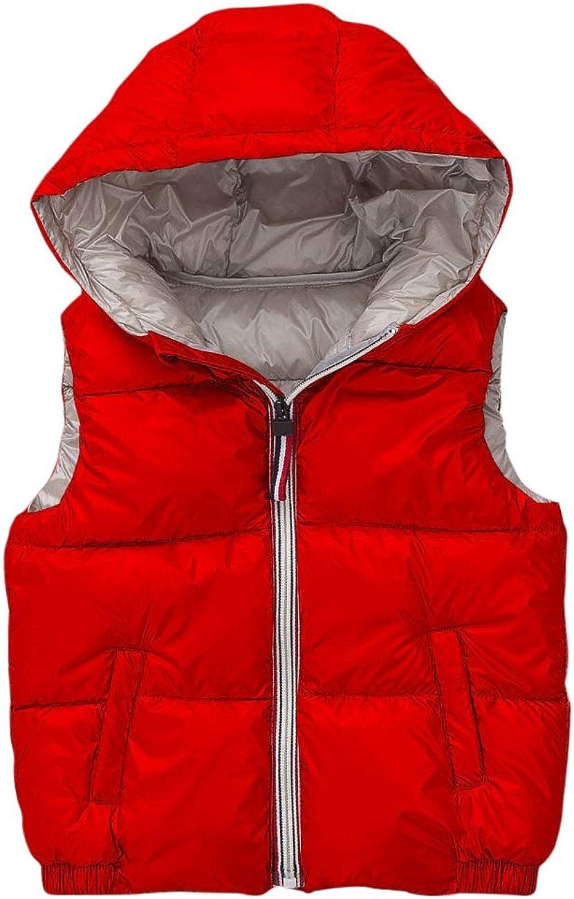 BESBOMIG Unisex Quilted Waistcoat Jacket Gilet Cute Waterproof Vest Girls Boys