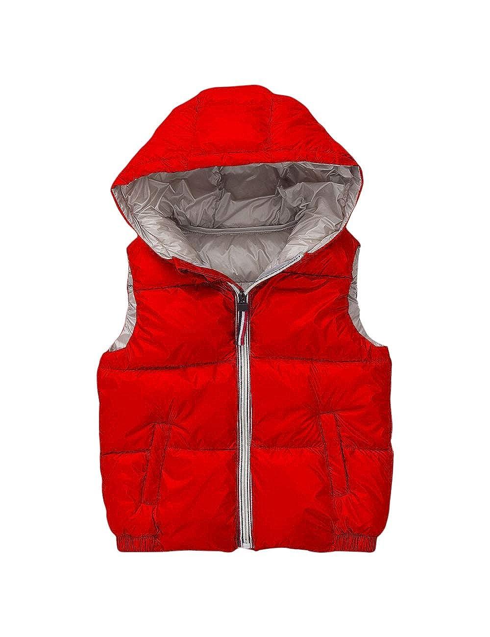 BESBOMIG Unisex Quilted Waistcoat Jacket Gilet - Cute Waterproof Vest Girls Boys