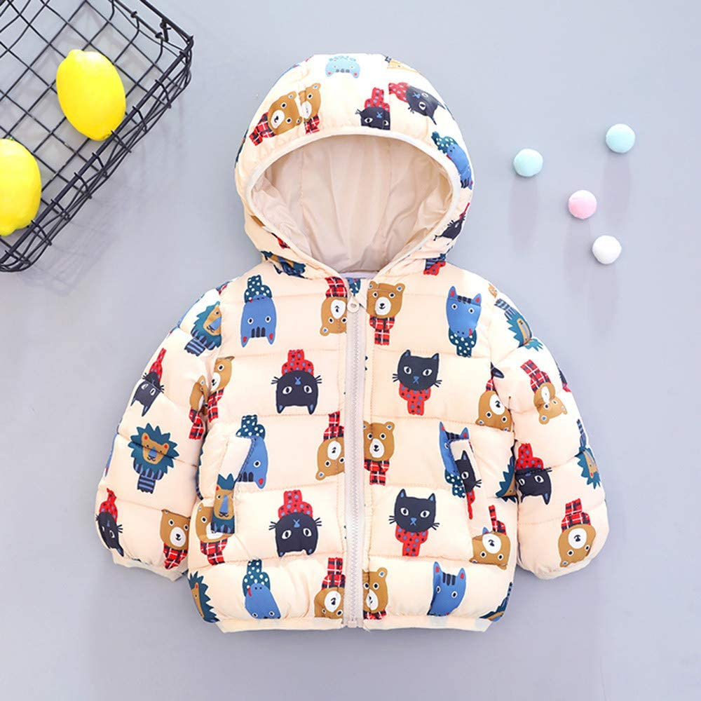 scaling Lightweight Windproof Jacket/♥ Infant Boy Autumn Bear Outwear Cartoon Hooded Coat Winter Jacket Thick Warm Clothes