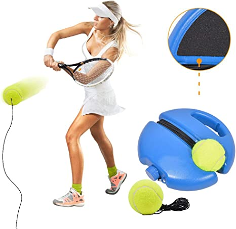 Famfun Tennis Trainer Rebound Ball Portable Solo Practice Training Tool With Ropes And Baseboard Self Study Exercise Partner 2 Balls And 1 Wristband Amazon Co Uk Sports Outdoors