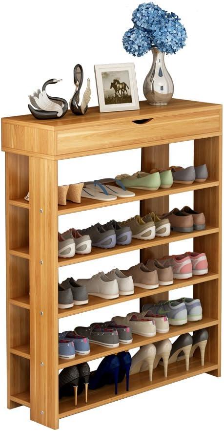 Soges Shoe Racks Solid Wood Shoe Storage Shelf Organizer 5 Tiers Teak L24 Tk N Ca Amazon Ca Tools Home Improvement