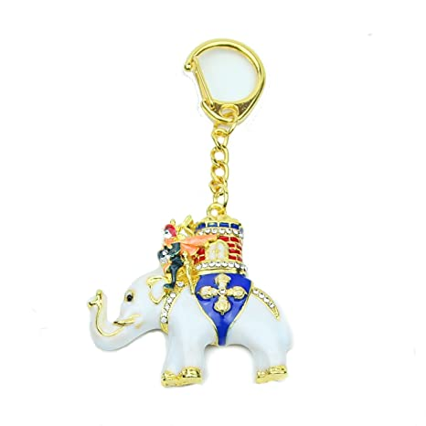 Amazon.com: Poder elefante con Warrior amuleto Llavero: Home ...