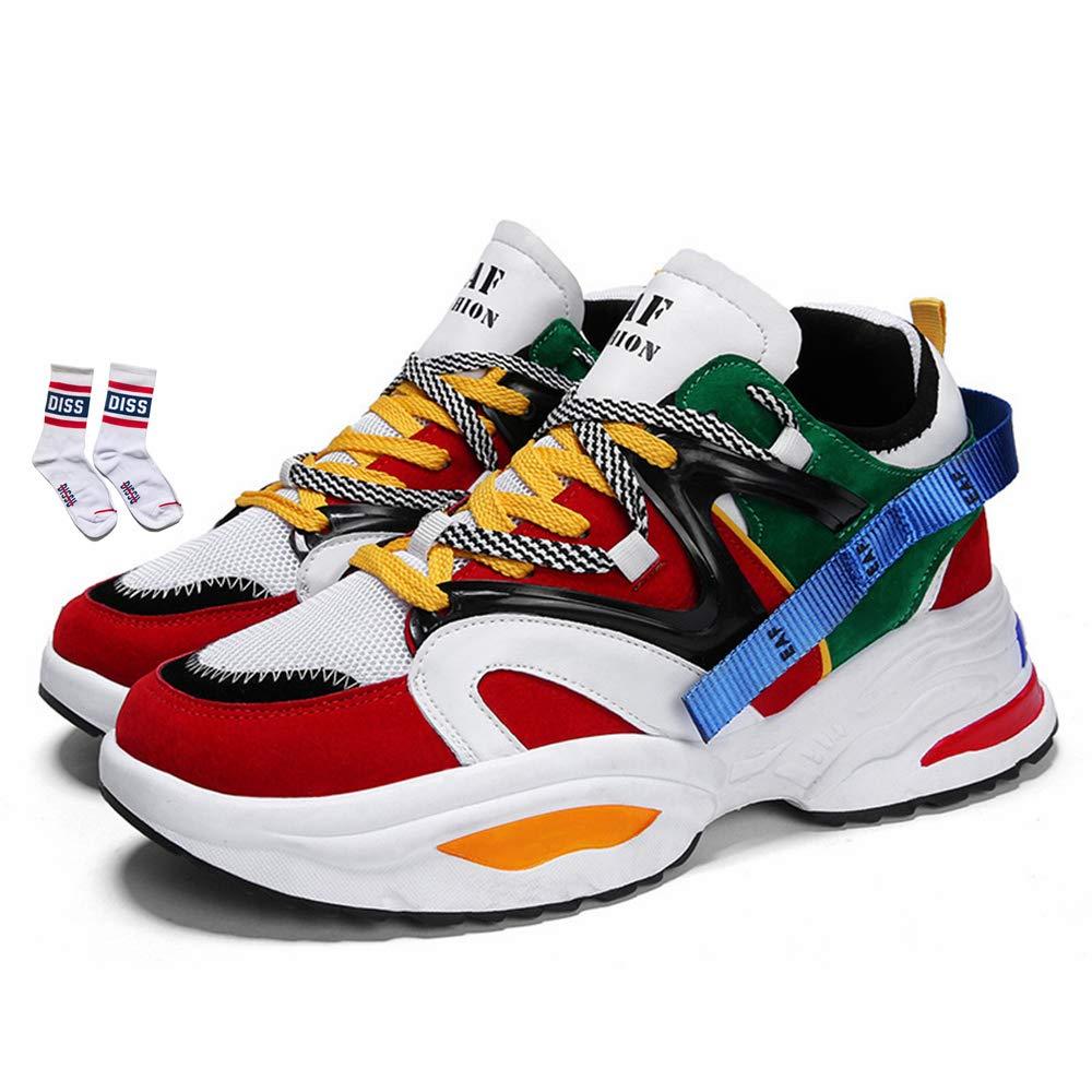 NCNDB Mens Fashion Mesh Sneakers Road Running Jogging Walking Gym Shoes 6.5-10