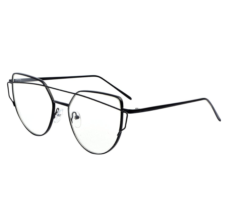 8b4f2b94b84 Amazon.com  YANQIUYU New Fashion Cute Fake Cat Eye Clear Lens Glasses Non  Prescription Eyeglass Frames for Women (Clear Lens Black Frame