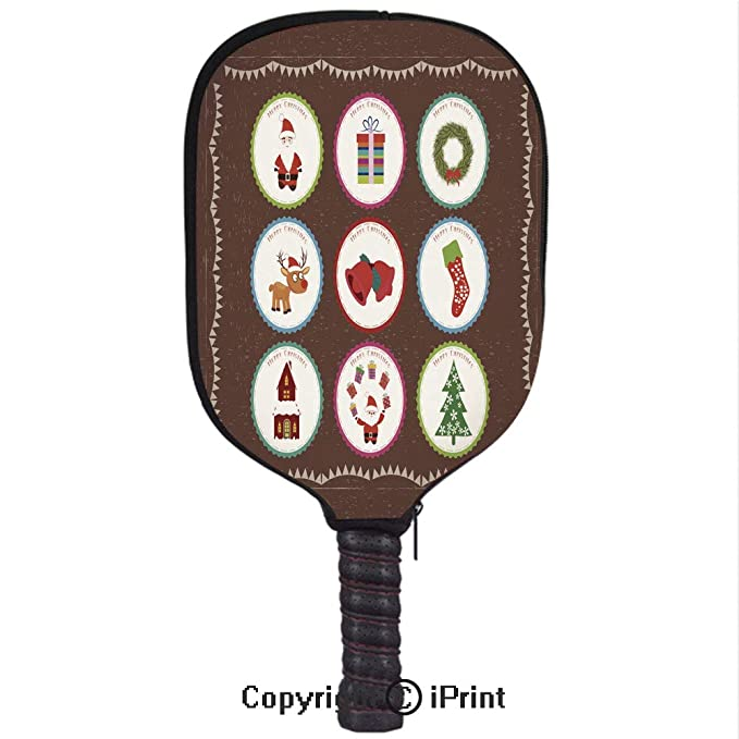 Amazon.com : Premium Neoprene Material, Soft, Thick Enough Protector Pickleball Paddle Cover, Christmas printables2(Size:8.23
