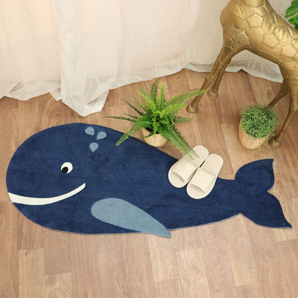 shuhong Tapis Chambre Salon Tapis De Sol De Tapis pour Chambre denfants Cadeau De D/écoration Baleine Bleue 51.1X21.2