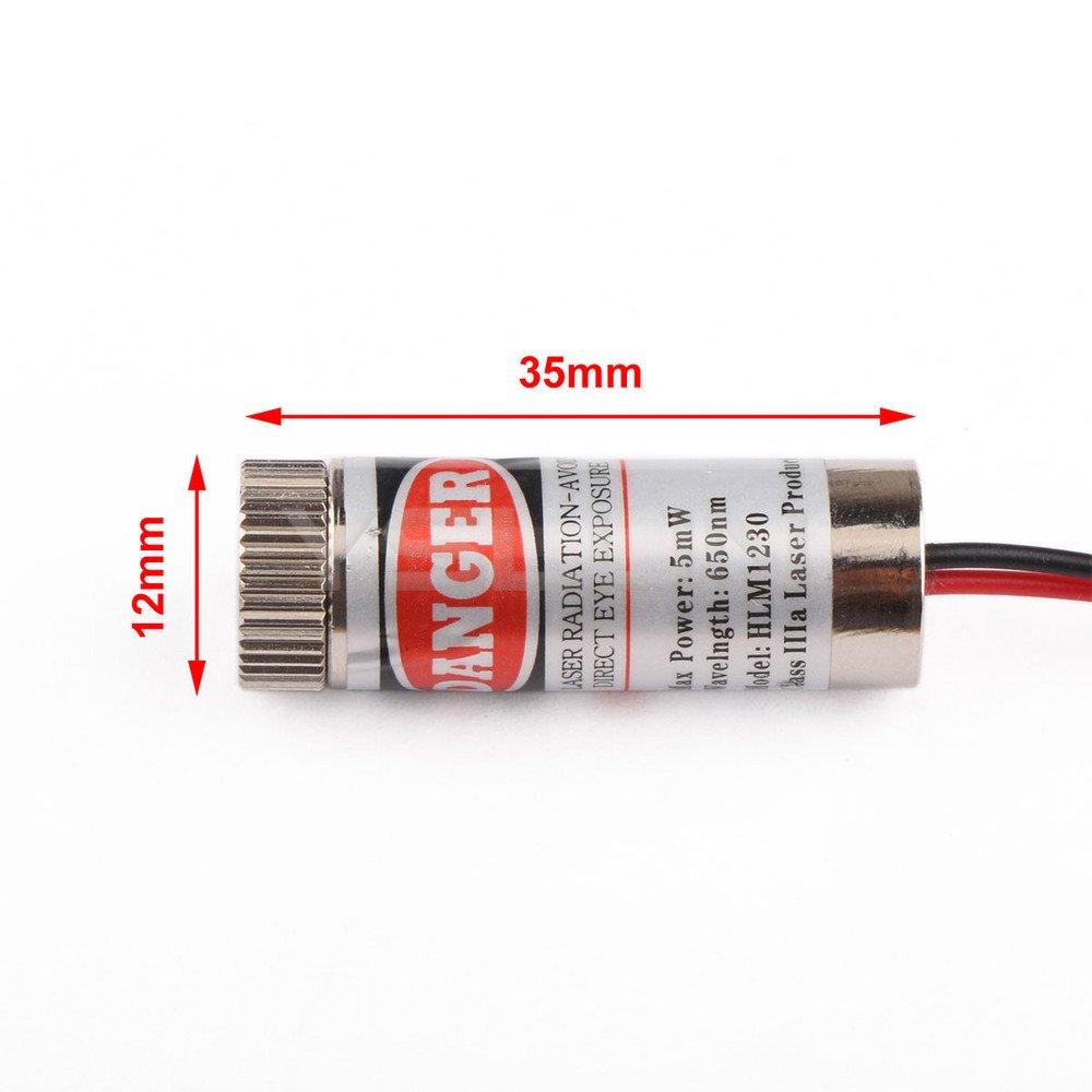 650nm 5mW Red Laser Line Module Focus Adjustable Laser Head 5V