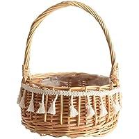 Flower Girl Baskets Flower Basket Wicker Baskets with Handles Indoor Planter Decorative Flower Pot for Fruit and Vegetable Baskets and Picnics. -202025cm