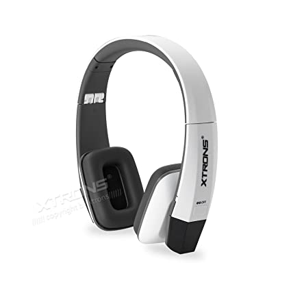 XTRONS White IR Wireless Dual Channels Infrared Stereo Cordless Headphones 2 Channels for Children Kids