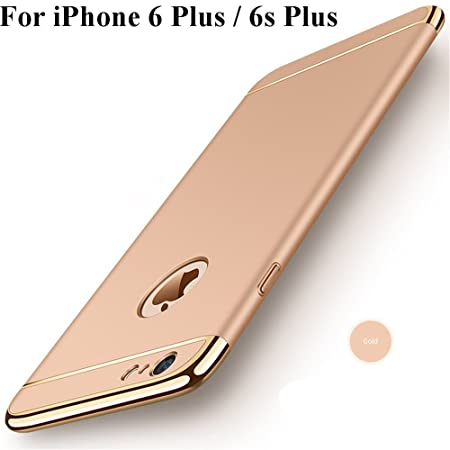iPhone 6s Plus Hülle,Heyqie 3 in 1 Ultra-thin 360 Full Body Anti-Scratch Shockproof Hard PC Non-Slip Skin Smooth Back Cover C