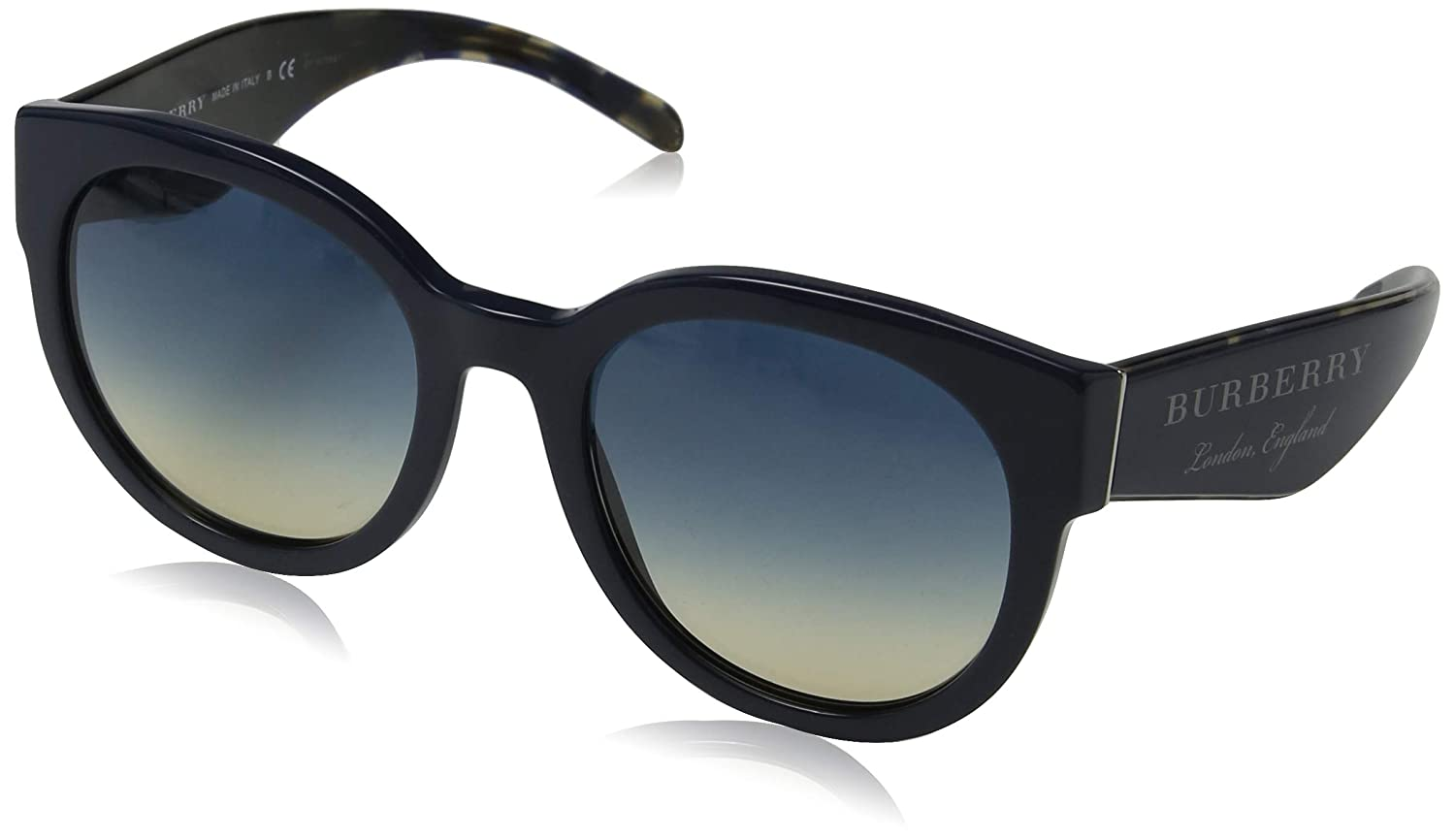 d63653284 Amazon.com: Burberry Women's 0BE4260 Black/Gradient Grey/Mirror Silver One  Size: Clothing