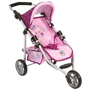 Amazon.es: Bayer Chic Jogging Buggy Lola 2000 612 29 - Carrito de bebé para muñeca, diseño de Lunares, Color Morado, Lila y Rosa: Juguetes y juegos