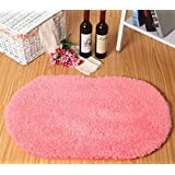 SU@DA Carpet Mat Kitchen Bathroom Anti-skid Living room Foot pad , pink , 40*60