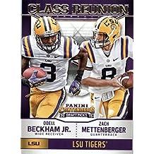 2015 Panini Contenders Draft Picks Class Reunion #2 Odell Beckham Jr. / Zach Mettenberger - New York Giants - LSU Tigers (NFL Football Card)