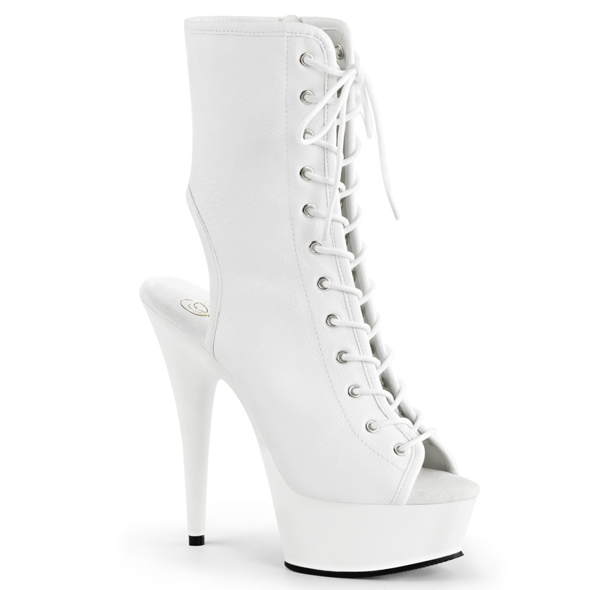 Pleaser Womens DELIGHT-1016 Boots B013LGY74Y 6 B(M) US|Wht Pu/Wht