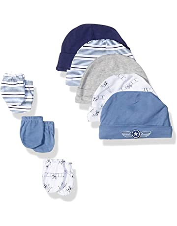 50c4e1f230f Hudson Baby Baby Girls  Cotton Cap and Scratch Mitten Set