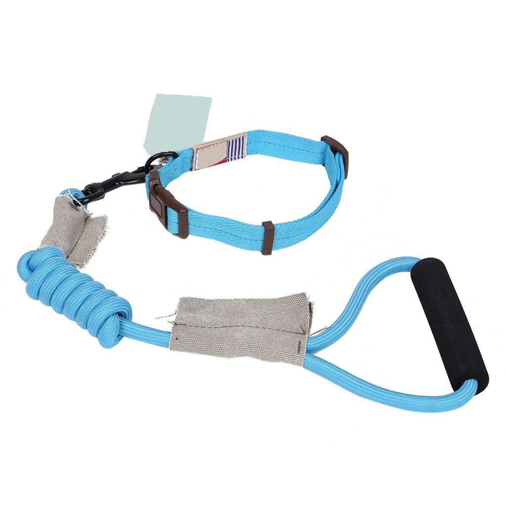 bluee S bluee S ZH Pet Harness, Leash, Collar, Round Rope, Small, Medium, Large Dog, Dog Leash, Dog Chain, Pet Supplies (color   bluee, Size   S)