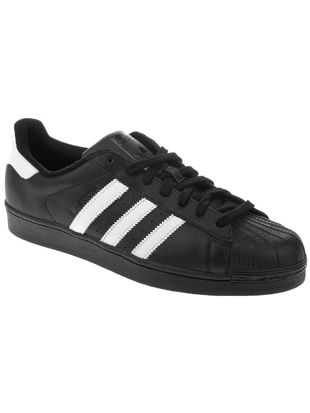 schwarz adidas Herren Superstar Turnschuhe