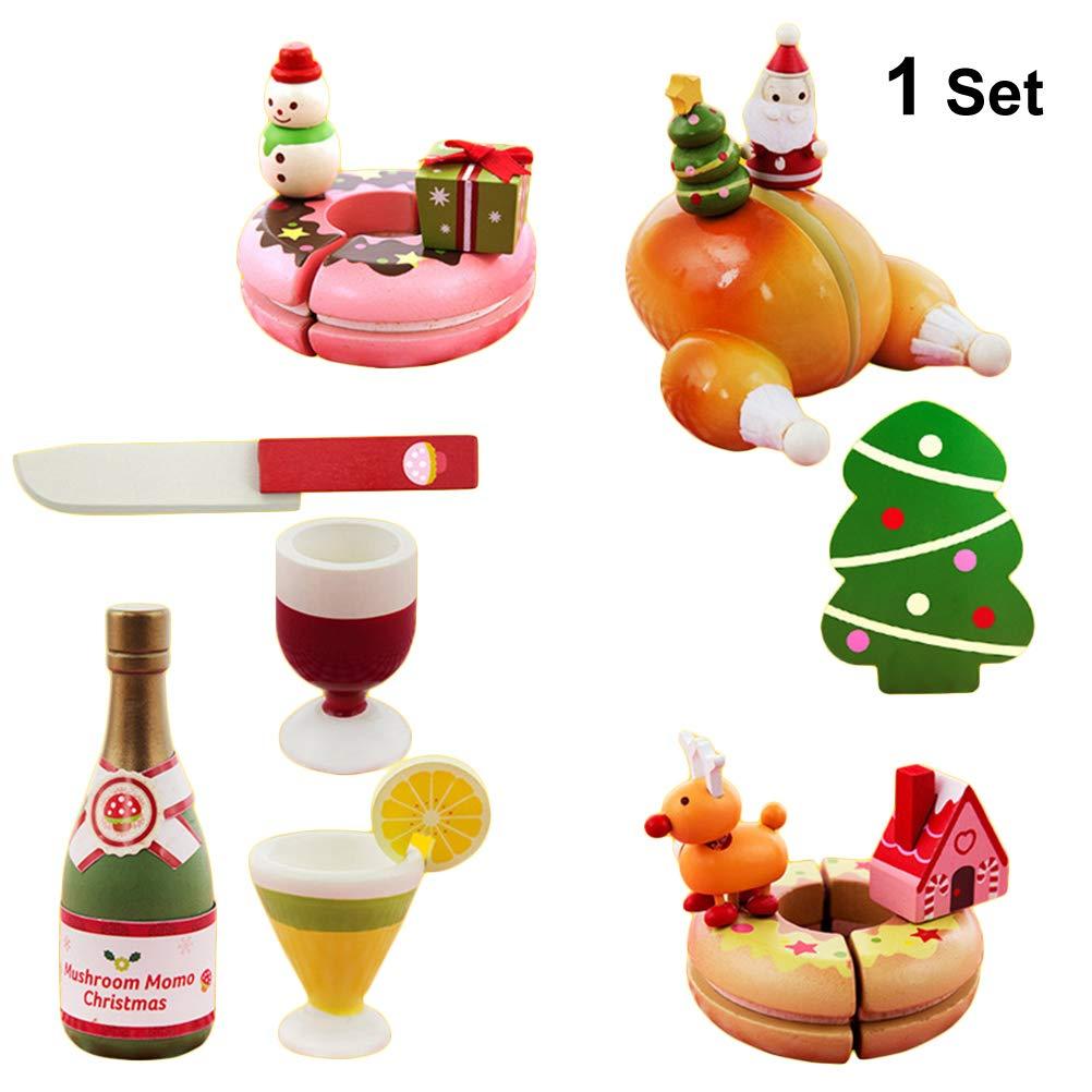 STOBOK Weihnachtskarnevalsausschnitt-Spielzeugspaß täuschen Spiellebensmittelnachtischausschnittspielzeug Playset scherzt pädagogisches Spielzeug vor