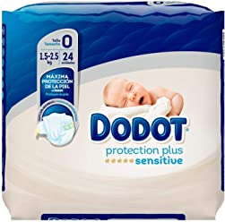 Dodot Sensitive Size 2 4-8Kg 34 Units - Diapers With Maximum Absorption For Newborns