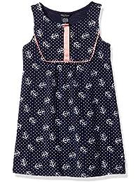 Girls' Anchor Print Tunic Dress with Grosgrain Placket