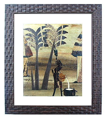Own for less than the cost of framing – Banana Leaf Framed (acrylic sheet and lightweight polystyrene molding) Artwork from Kilimanjaro/Serengeti regi…