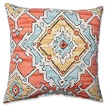Pillow Perfect Sundance Throw Pillow, 16.5-Inch, Tangerine
