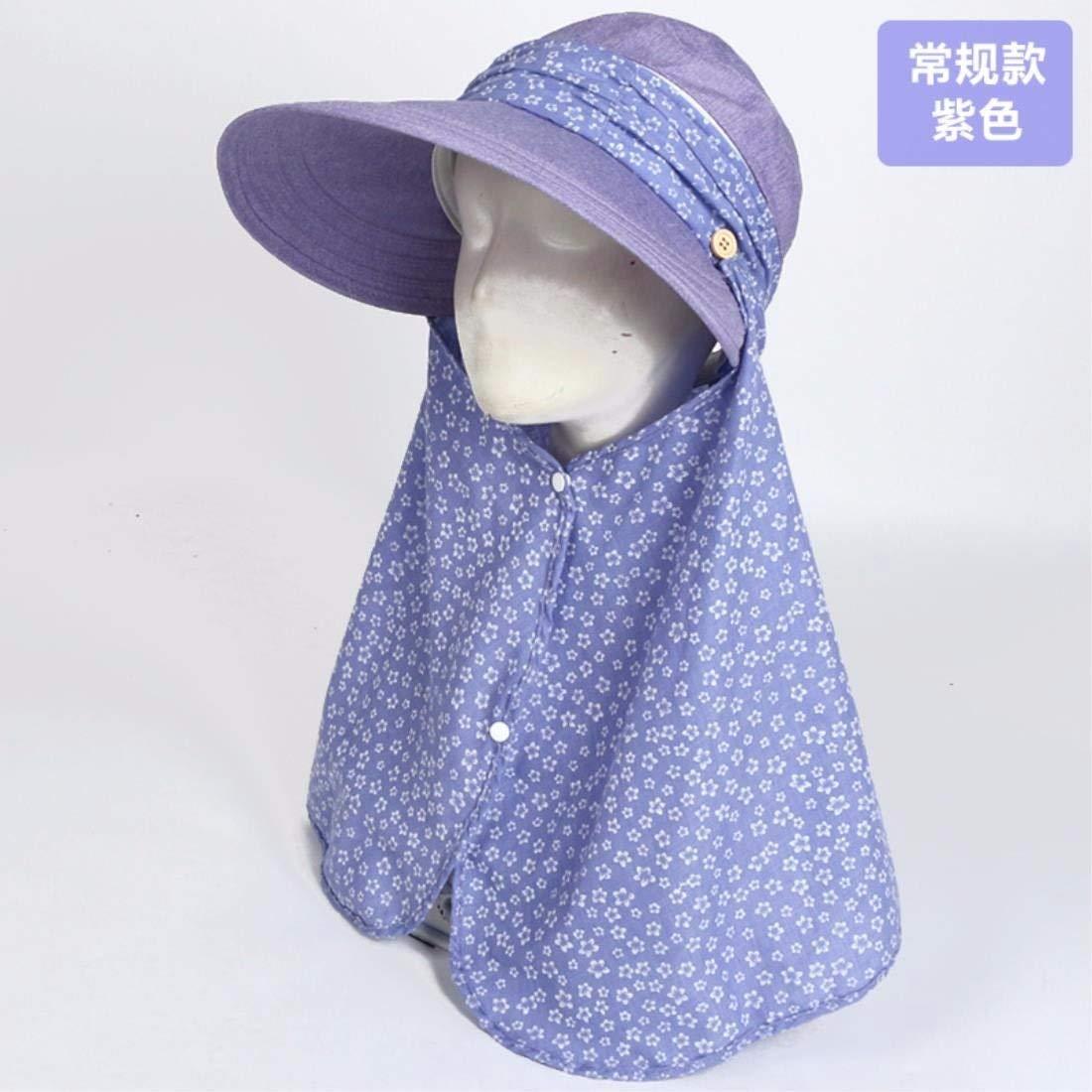 Beach Hat Women's Hats Summer Outdoor AntiUv Bike Cap Visor Face Cap Purple Summer Sun Hat