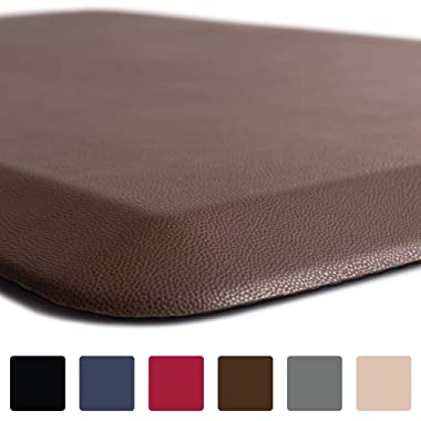 GORILLA GRIP Original 3/4  Premium Anti-Fatigue Comfort Mat, Phthalate Free, Ships Flat, Ergonomically Engineered, Extra Support and Thick, Kitchen and Office Standing Desk (32x20: Brown)